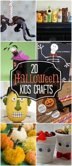 25 Halloween Kids Crafts...Here are my favorite 25+ Halloween Kids Crafts from Blog Land: posted by Kristyn
