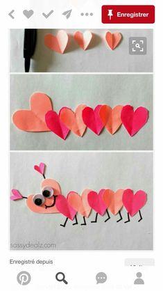 Preschool Valentine Crafts, Valentines For Kids, Art N Craft, Spring Art, Chenille, Art For Kids, Paper Crafts, Holidays, Activities
