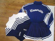 Vintage Cheerleading Uniform Outfit 3 Piece Set Sweater Skirt Albion Camarillo   eBay