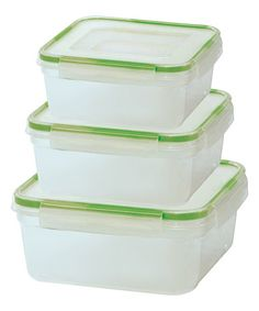 Look what I found on #zulily! Six-Piece Square Click & Lock Storage Containers #zulilyfinds