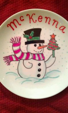 Christmas Sharpie Plate