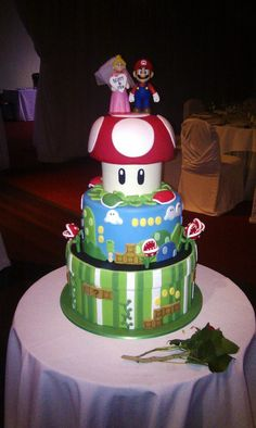 This is my wedding cake from yesterday (Will post pictures of my wife and I cutting it later) - Imgur