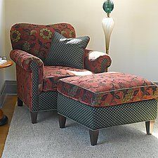 Molly Rose Chair and Ottoman in Russet: Mary Lynn O'Shea: Upholstered Chair & Ottoman - Artful Home Living Room Chairs, Living Room Furniture, Living Room Decor, Cozy Chair, Chair And Ottoman, Swivel Chair, Upholstered Furniture, Upholstered Ottoman, Funky Furniture