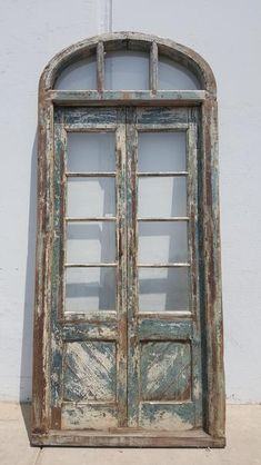 Wood And Glass Doors With Square Panes And Arched Top Wood Exterior Door Antique Doors Glass Door