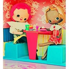 Etsy の cute doll print kitchen art CAFE CUTE by boopsiedaisy