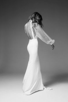 Long sleeve wedding gown Alchemist - Marquise Bridal - Keep Its Find