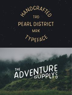 Pearl District - Hand Drawn Font by James Lafuente on Creative Market #designtools #type #lettering #typography