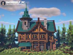 Minecraft Medieval House, Minecraft House Plans, Minecraft Farm, Minecraft Cottage, Minecraft Castle, Minecraft House Tutorials, Cute Minecraft Houses, Minecraft Houses Blueprints, Minecraft House Designs