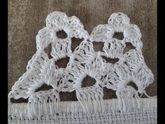 Orilla o Puntilla para Servilleta No. 30 Floreros - YouTube Crotchet, Crochet Lace, Crochet Borders, Crochet Designs, Crochet Projects, Diy And Crafts, Crochet Earrings, Textiles, My Style