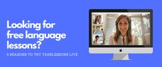 Find out how you can access free language lessons at TakeLessons Live anytime, anywhere. Spanish Culture, Spanish Words, Language Lessons, Learning Spanish, Teacher, Live, Learn Spanish, Language Classes, Study Spanish