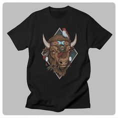 """54 Likes, 1 Comments - Sam Phillips (@samphillipsillustration) on Instagram: """"Get my NEW Buffalo design on clothing at http://www.samphillips.printmighty.co.nz #clothing…"""""""