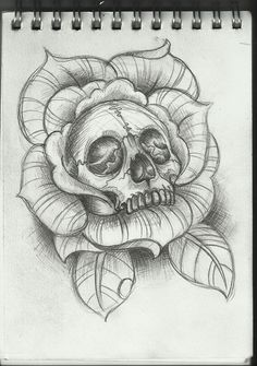 Tattoo Art | Skull Tattoo Design by ~Frosttattoo on deviantART