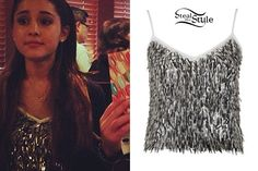 Ariana Grande's brother frankie posted a photo on instagram of him and her wearing a topshop sequin cami $30