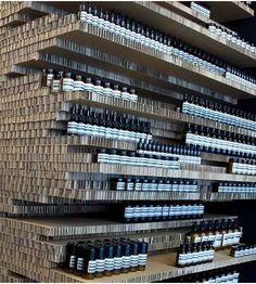 Cardboard Shelves - Aesop Store Melbourne