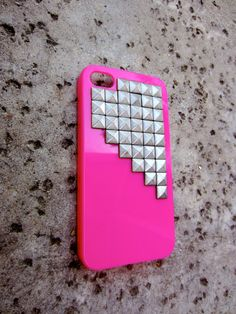 Studded iPhone 4 Case Pink by shopsway on Etsy, $12.98