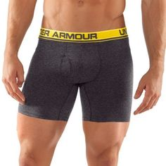 """Men's UA Touch 6"""" Boxerjock® Boxer Briefs Bottoms by Under Armour Large Carbon Heather by Under Armour. $18.99. Ultra-soft, smooth fabric for incredible next-to-skin feel, keeping you comfortable all day. Lightweight, 4-way stretch fabrication improves range of motion and dries faster. Advanced Moisture Transport System to keep you cool, dry, and comfortable. Anti-odor technology prevents the growth of odor-causing microbes. Smooth flatlock stitching delivers chafe..."""
