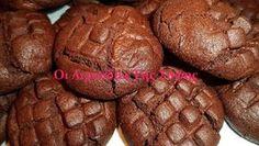 Σοκολατένια μπισκοτάκια νηστίσιμα Macarons, Biscuits, Bakery, Muffin, Sweets, Bread, Breakfast, Desserts, Food