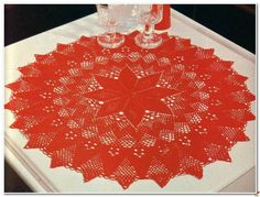 Crochet and arts: Beautiful red doily