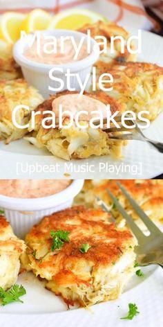 Crab Cakes Recipe Best, Crab Cake Recipes, Seafood Recipes, Mexican Food Recipes, Dinner Recipes, Cooking Recipes, Fish Recipes, Maryland Crab Cakes, Crab Dishes