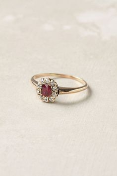 One day perhaps, a ruby ring- preferably antique.