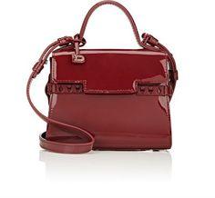 DELVAUX Tempête Micro-Satchel. #delvaux #bags #shoulder bags #hand bags #satchel #patent #