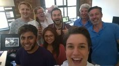One Design: Founded in 2010, architectural and interior design company, One Design, enjoys a reputation as one of the most exciting design groups in the United Kingdom. Their team members are highly prized, and the camaraderie is more than evident in this group selfie, taken at a office function to mark one of the employees' final day at the company.