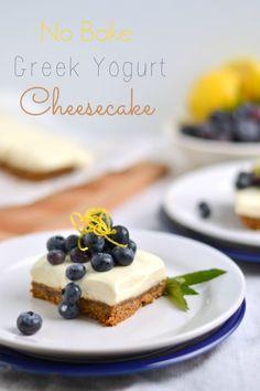 No Bake Greek Yogurt Cheesecake(Without Gelatin!) - Food Doodles