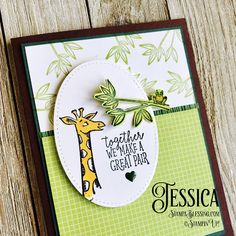 Stamp a Blessing: Animal Outing by Stampin'Up! My first card with this set. Boy Cards, Kids Cards, Stampin Up Catalog, Stamping Up Cards, Get Well Cards, Animal Cards, Tampons, Anniversary Cards, Homemade Cards