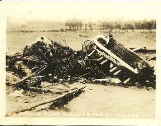 被击落的日军飞机 1932 上海 Shanghai