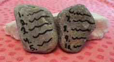 Ten Commandments Bible Craft - Make Stone Tablets for your garden or flower pots