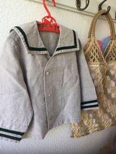 Vintage Sailor, Vintage Children, Nautical Shirt, Sailor Shirt, American Children, Nautical Wedding, Green Velvet, Shirt Jacket, Dapper