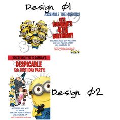 Despicable Me Invitation - Despicable Me Party Printables - Despicable me Invitations