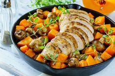 Turkey Mushroom and Butternut Squash Skillet - Clean Food Crush