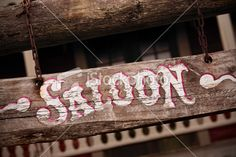 Old saloon sign Royalty Free Stock Photo