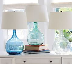 Eva Colored Glass Table Lamp | Pottery Barn