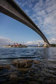 The Waverley under the Skye Bridge at Kyle of Lochalsh by David of Deemacphotos
