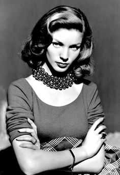 Lauren Bacall oozing style and glamour!