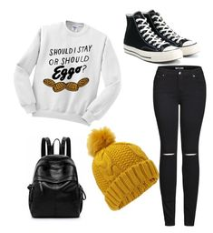 """Stranger Things Chic"" by asmaou on Polyvore featuring 2LUV, Converse and Miss Selfridge"