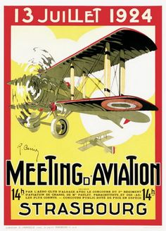 1926 Aviation Meeting Airplane Plane Paris France Vintage Poster Repro FREE S//H