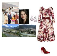 """Arriving at Paro International Airport in Bhutan."" by new-generation-1999 ❤ liked on Polyvore featuring Madhuri Parson"