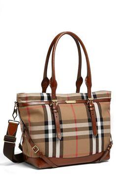Burberry Diaper Bag.
