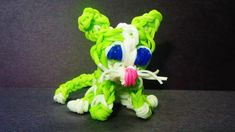 Rainbow Loom Charms: CAT / KITTY / KITTEN:  How to make a Rainbow Loom Cat