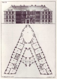 Second version of the letter 'A' from Steingruber's 1773 'Architectonisches Alphabeth.'