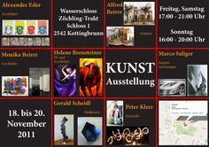 Flyer für Vernissage von Helene Bernsteiner und anderen Künstlern Flyer, Online Marketing, Photo Wall, Social Media, Sculptures, Drawing S, Photograph, Social Networks, Social Media Tips