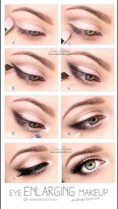 Eye widening makeup