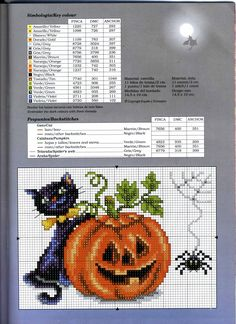 Halloween -Kitty with pumpkin and spider (bbj6501) 1/1