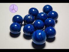Tutorial: Perle Lapislazzuli in Fimo (polymer clay lapis lazuli beads) - YouTube