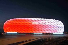 Why ETFE Is the Miracle Construction Material Facade Lighting, Construction Materials, Bubble Wrap, Bubbles, Soccer, Stark, Buildings, Red, Sweden