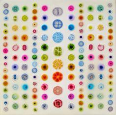 William Loveless glue paintings: January 2015