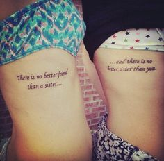 Quote sister Tattoos - 50+ Sister Tattoos Ideas <3 !